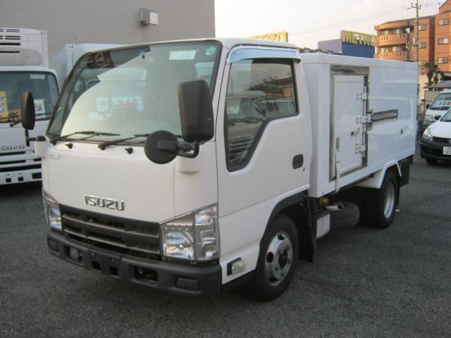 いすゞ エルフトラック 2t低温冷凍 小型枠車 移動間仕切付