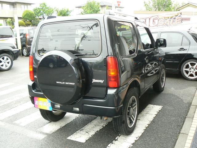 ワイルドウインド 4WDターボ レザーシート シートヒーター 純正アルミ キーレス エアバッグ ABS タイミングチェーン(3枚目)