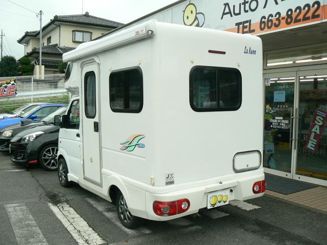 キャンピング 4WD AZ-MAXラクーン ベンチタイプ 8ナンバー FFヒーター 5人乗り ナビ地デジ&バックカメラ サイドオーニング シンク サブバッテリー 網戸 外部電源 AC100V ドラレコ(3枚目)