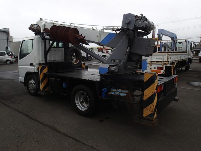 三菱ふそう キャンター 07154 穴掘建柱車DT600 DPF未装着 NOxPM適