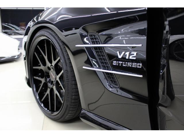 SL65AMG受注生産V12D車黒革DステッチHFアルミ(16枚目)