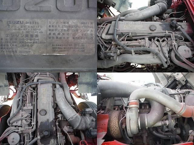 いすゞ ギガ 脱着式コンテナ専用車 積載11.1t 新明和 3軸2デフ