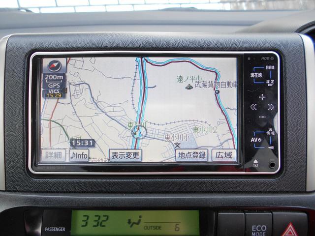 トヨタ ウィッシュ 2.0G HDDナビ ワンセグTV Bモニター ETC