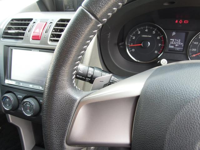 自ら操るハンドル!ドライバーの生命線です。目線を大きくそらすことなくボタンの操作を行うことができるので、安全にも配慮できますね。