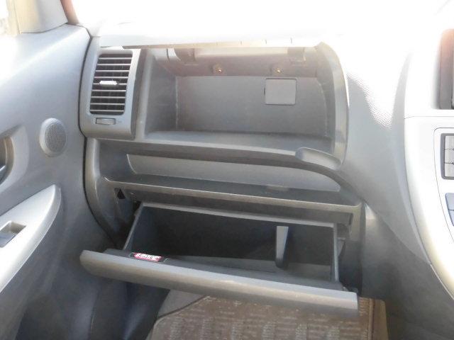 フタ付きのアッパーボックスと、グローブボックスに分かれています。