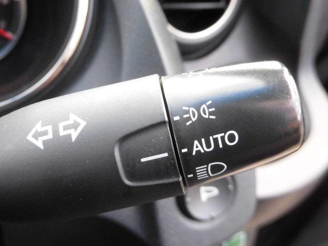 点灯忘れも防止できるオートライトコントロール機構付です。