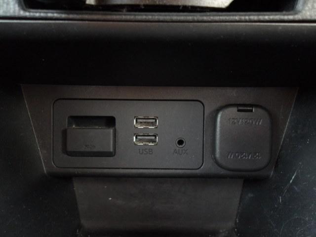 USB・AUX端子付きです