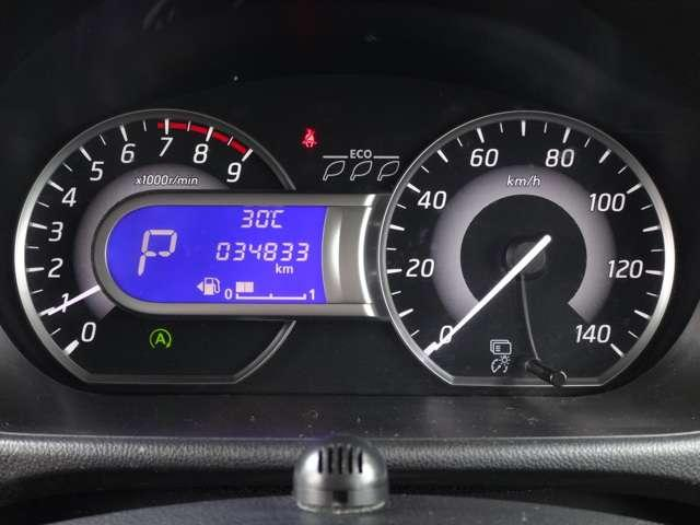 ファインビジョンメーター(エコドライブインジケーター付き)で低燃費走行を一目で確認できます☆走行距離 34833km
