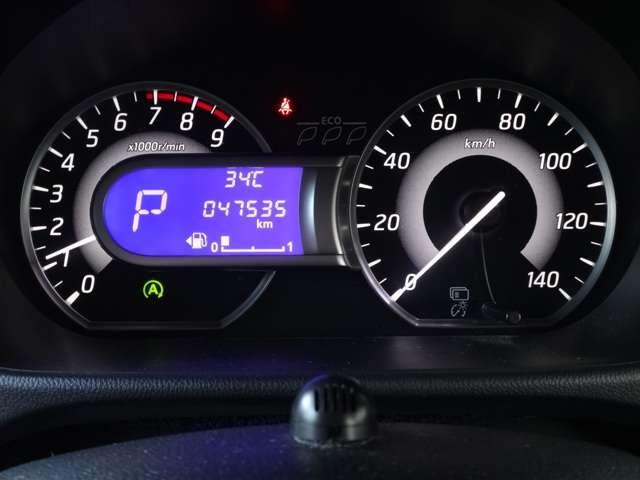 ファインビジョンメーター(エコドライブインジケーター付き)で低燃費走行を一目で確認できます☆走行距離 47534km