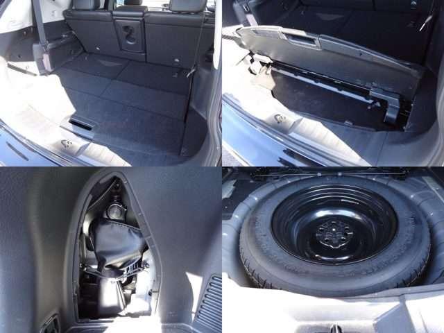 4名乗車時は大人4人がゆったり座れるとともに、余裕のラゲッジスペースも確保しています。上下2段のトランクで、荷物のサイズに合わせて収納できます!◆ジャッキ◆応急用タイヤを搭載しています。