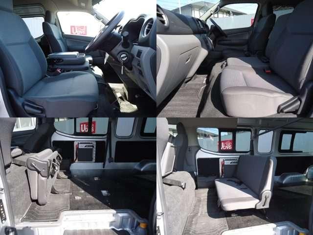 2.5ディーゼルターボ DX スーパーロング ワイドボディ ハイルーフ パートタイム4WD 3/6人乗り 社外メモリーナビ(パナソニックCN-B301B)衝突被害軽減ブレーキ バックカメラ リアクーラー キーレスエントリー ETC ワンオーナー パワーリフト(11枚目)