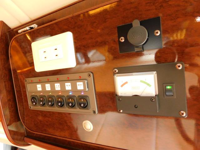 メインスイッチ付き電圧計 ACコンセント DCソケット 6連スイッチパネル!