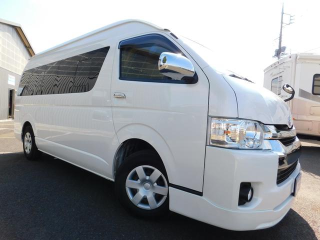 平成28年式 トヨタ ハイエース キャンパー特装車 パールホワイト ワンオーナー LEDヘッドライト装備!セラミック断熱レス