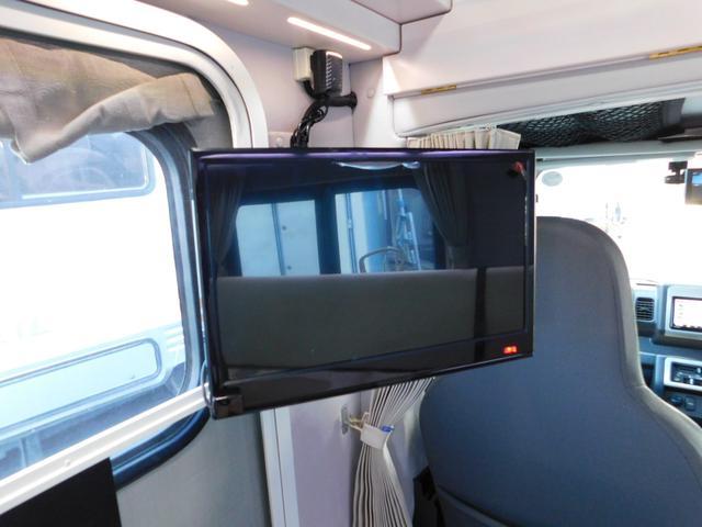 後部液晶モニター 車載用地デジチューナーでTV受信