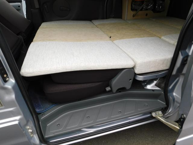 キャンピングカー 三菱自動車製 タウンボックスRXキャンパー 4速AT フルタイム4WD 660ccターボ 寒冷地仕様 4人乗車 ベッドマット サンシェード エンジンスターター ストラーダメモリーナビ(8枚目)