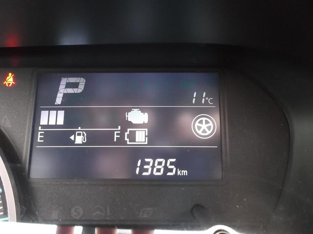 走行距離は1385kmです。