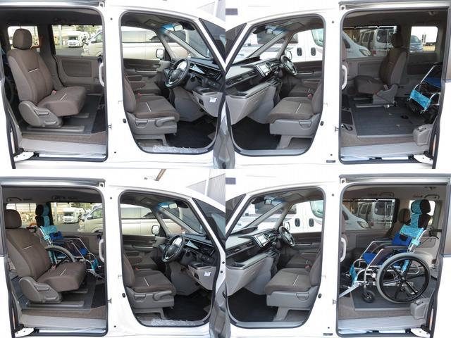 福祉車両 G車いす仕様車2&3列目車椅子2基固定 乗車計7名(16枚目)