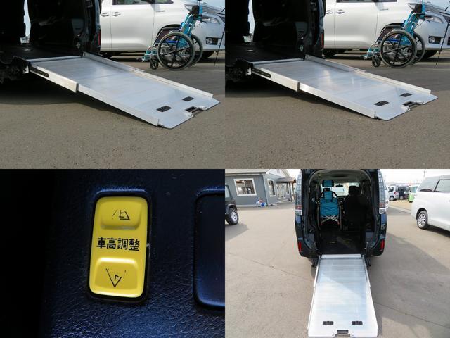 ワンタッチでスロープ展開もスムーズに展開可能です!ニールダウン(車両後部昇降装置) スロープ傾斜角度が緩やかになります。 どなたでも、車いす・バギー乗車が「便利・安全」になりますね☆