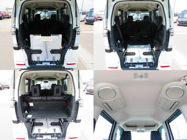 N-BOXならではのラゲッジルーム展開!車椅子使用しない際はスロープを簡単に折りたためて、荷物を置けるボードに変更可能です。