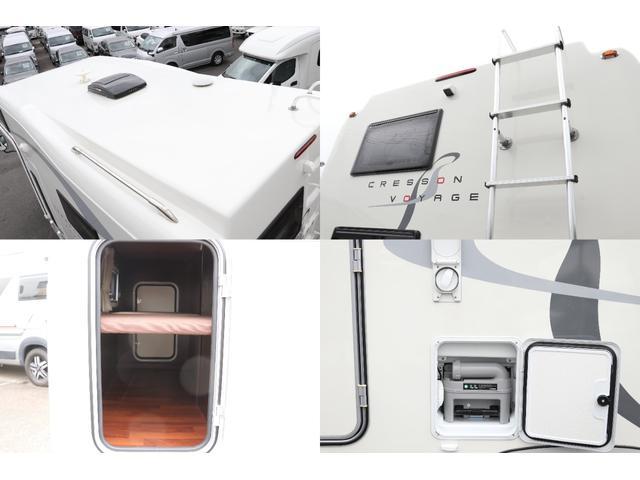 ナッツRV製 クレソンボヤージュW 1オーナー禁煙車 ナビTV ETC Bカメラ サブBT VOTRONIC 12V/100V 燃料式FFヒーター 走行時リアクーラー MAXFAN シンク 冷蔵庫 リアラダー カセットトイレ 外部充電 走行充電(17枚目)