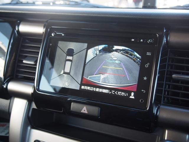 全方位モニターは車両を上から見下ろした状態で安全確認が出来ますので駐車の際も便利な装備です☆