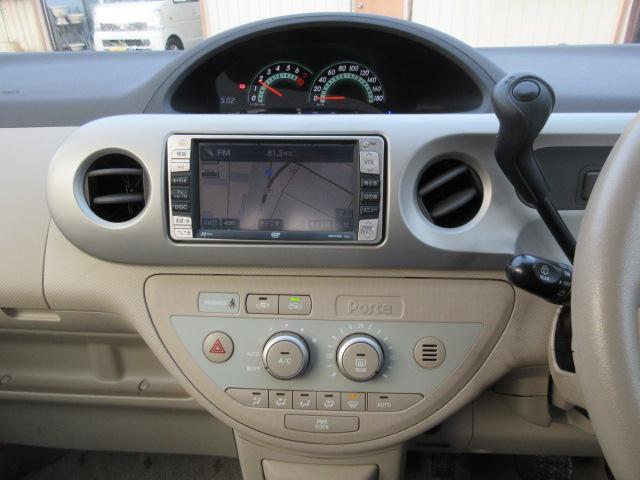 トヨタ ポルテ 130i CパッケージパワースライドDVDナビフルエアロ