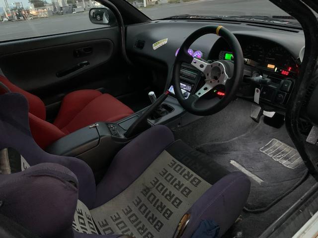 PS インタークーラーターボ MT5速 車高調 追加メーター サンルーフ 社外ECU ロールバー(19枚目)