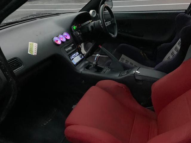 PS インタークーラーターボ MT5速 車高調 追加メーター サンルーフ 社外ECU ロールバー(21枚目)