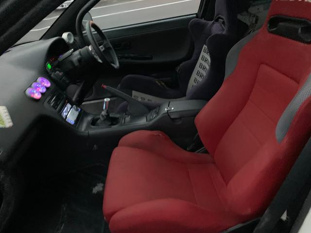 PS インタークーラーターボ MT5速 車高調 追加メーター サンルーフ 社外ECU ロールバー(22枚目)