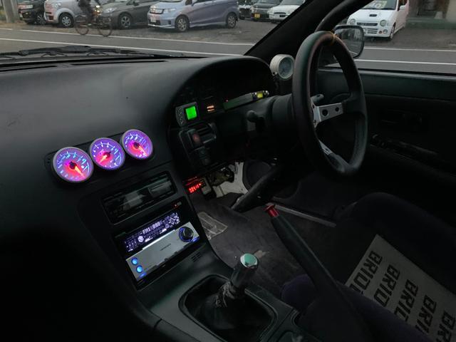PS インタークーラーターボ MT5速 車高調 追加メーター サンルーフ 社外ECU ロールバー(23枚目)