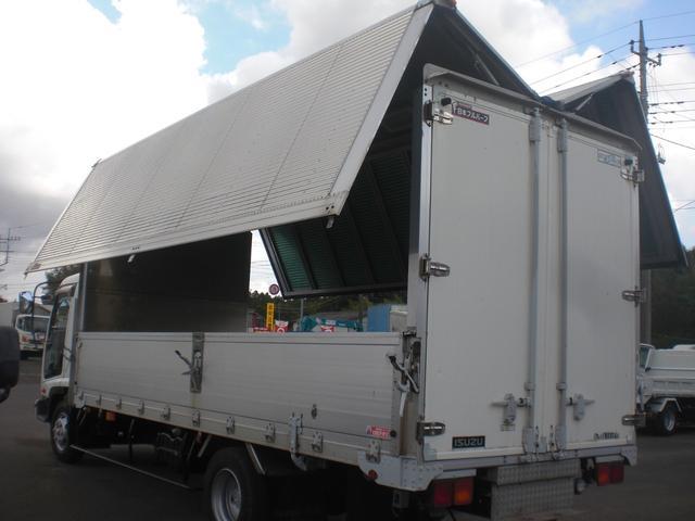いすゞ フォワード アルミ 箱ウイング 最大積載3650kg MT6速スムーサー