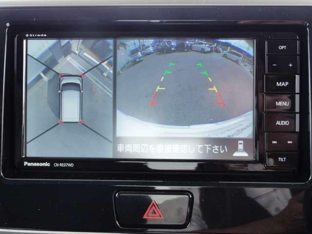 X Vセレクション アラウンドビューM ワンオーナー 社外メモリーナビ・フルセグTV・DVD再生・両側オートスライドドア・インテリキー・オートエアコン・アイドリングストップ・衝突軽減・横滑り防止装置・14インチアルミ(3枚目)