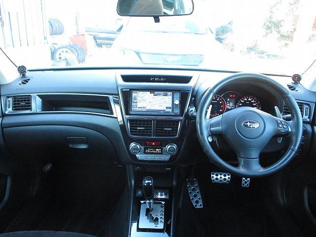 2.5iアイサイト Lパッケージ 4WD STIフロント・サイドリップスポイラー フルエアロ フリップダウンモニター プッシュスタート ETC ドライブレコーダー オートライト HID フォグランプ RAYS18インチAW 後期(9枚目)