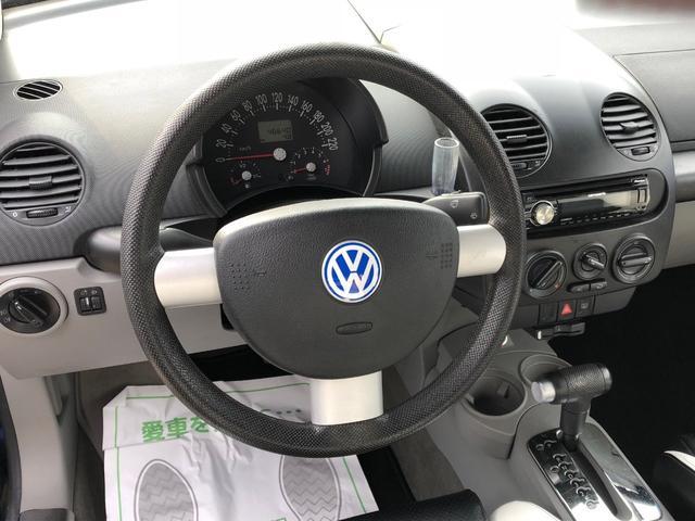 フォルクスワーゲン VW ニュービートル 左H本革レカロ19AW禁煙5人乗り天張り・タイベル交換済美車