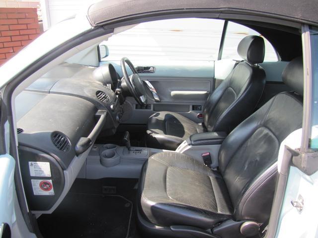 フォルクスワーゲン VW ニュービートルカブリオレ プラス 革シートヒーター電動オープンBセンサー