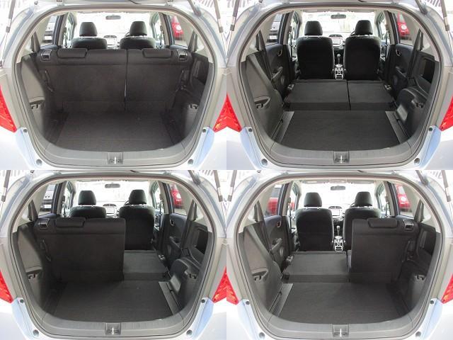 ラゲッジスペースは後部座席を倒すと更に広々とした収納スペースが確保出来ます♪好みの用途に応じてシートアレンジをして下さい♪