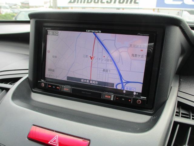 社外ナビが装備されております♪画面もクリアで見やすく運転中も確認しやすいです♪フルセグTV+DVDの視聴もお楽しみ頂けます♪ロングドライブの時でも快適にドライブをお楽しみ頂けます♪