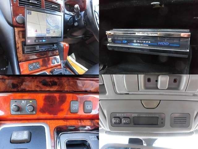 トヨタ セルシオ eR仕様 後期 外HDDナビ SR 黒革 エアロ ローダウン