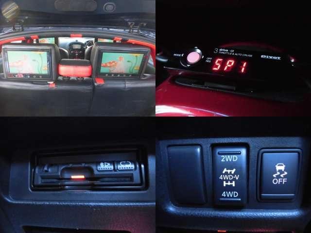 日産 ジューク 16GT FOUR 車高調 22AW ナビ TV モニタ-