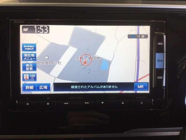 お出かけに便利な高性能純正メモリーナビ。(ギャザズVXM-152VFi )  Honda 独自の インターナビ でリアルタイムな情報が入ります。