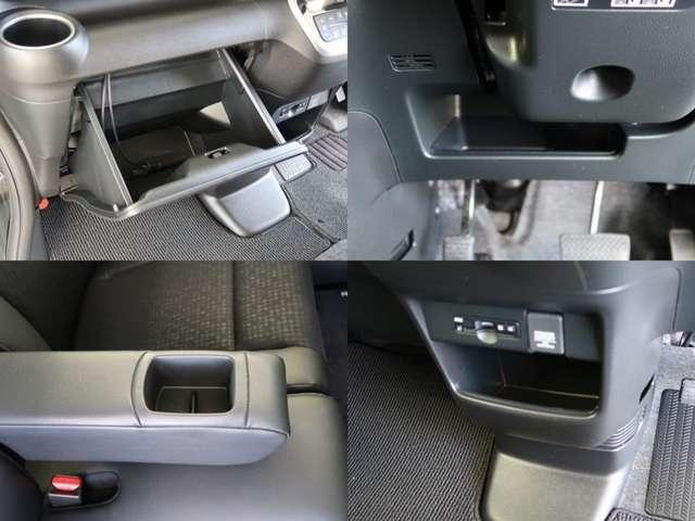 リヤシートは荷物に合わせて片側だけを倒すことも可能