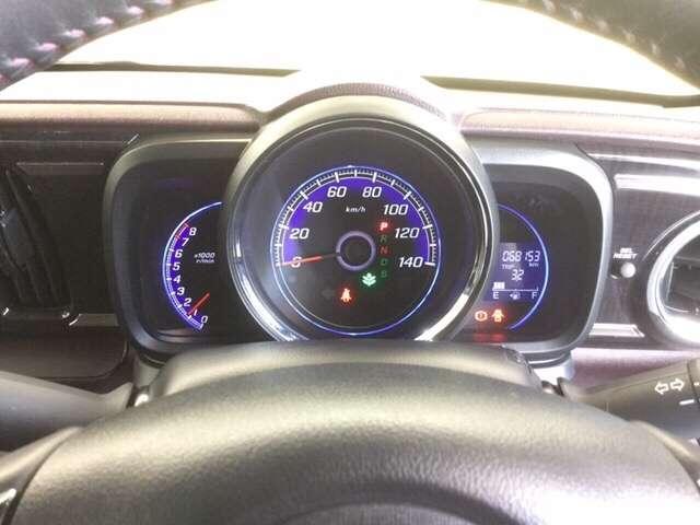 メーターーは3眼式で、真ん中にスピードメーター・左側に回転計・右側に距離計を配置してます♪とっても見易いです!