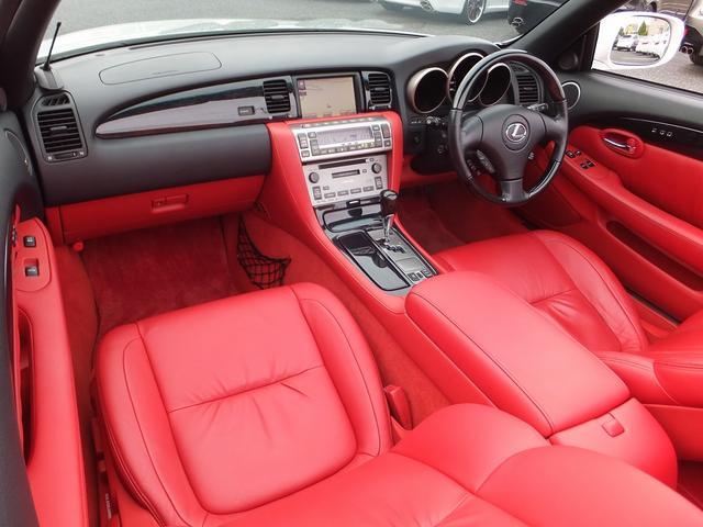 レクサス SC SC430後期モデル赤革マークレビンソンHDDナビドラレコ