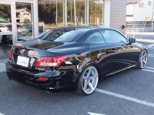レクサス IS IS250CバージョンL赤×黒コンビ革マクレビ車高調20AW