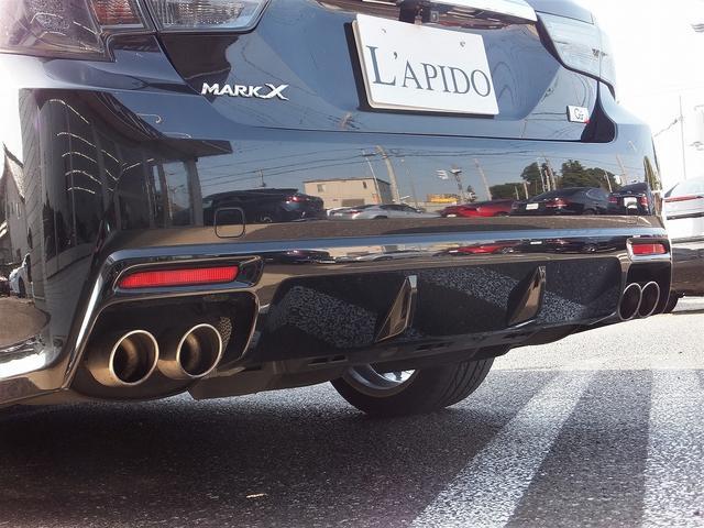 トヨタ マークX 350S G's専用エアロ19AWマフラー赤キャリパー禁煙車