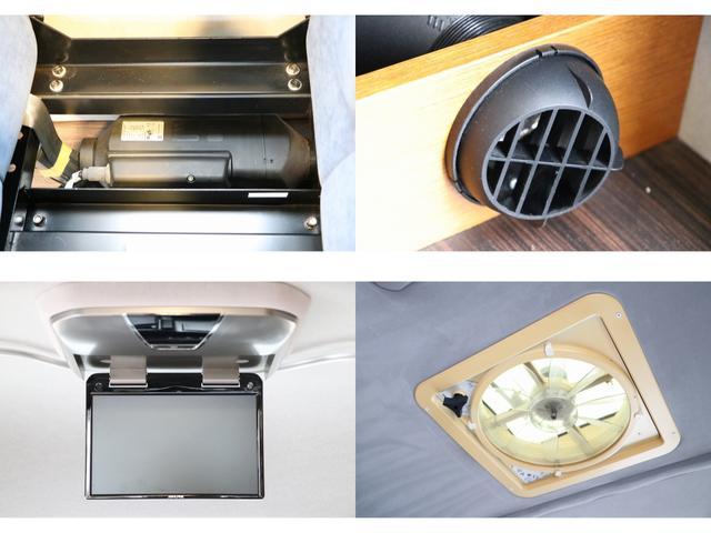 トイファクトリー製ランドティピー ナビ Bカメラ ETC フリップダウンモニター ツインサブバッテリー 走行充電 外部電源・充電 シンク 外部シャワー 冷蔵庫 FFヒーター ベンチレーター 1オーナー(14枚目)