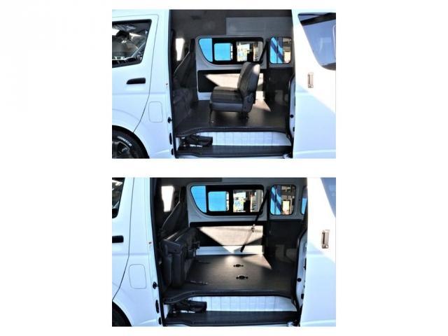 DX ワイド スーパーロング GLパッケージ パーキングサポート・オリジナルフロントスポイラー・オリジナルオーバーフェンダー・オリジナル17インチアルミホイール・グットイヤーナスカータイヤ・ローダウン1.15インチ・フローリング施工・LEDテール(12枚目)