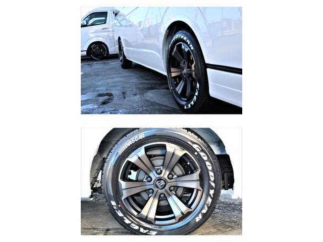 DX ワイド スーパーロング GLパッケージ パーキングサポート・オリジナルフロントスポイラー・オリジナルオーバーフェンダー・オリジナル17インチアルミホイール・グットイヤーナスカータイヤ・ローダウン1.15インチ・フローリング施工・LEDテール(25枚目)