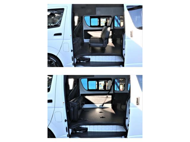 DX ワイド スーパーロング GLパッケージ パーキングサポート・オリジナルフロントスポイラー・オリジナルオーバーフェンダー・オリジナル17インチアルミホイール・グットイヤーナスカータイヤ・ローダウン1.15インチ・フローリング施工・LEDテール(50枚目)