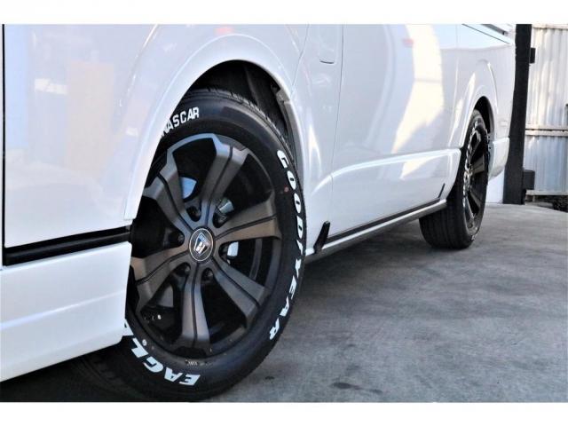 スーパーGL ダークプライムII ロングボディ パーキングサポート・PS無・オリジナル17インチアルミホイール・グッドイヤーナスカータイヤ・オリジナルフロントリップ・オリジナルオーバーフェンダー・ローダウン1.5インチ・7インチワイドナビ・ETC(19枚目)